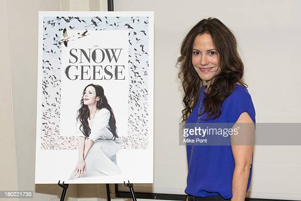 Actress MaryLouise Parker attends the Meet and Greet for Manhattan Theatre Club's production of Snow Geese at Manhattan Theatre Club Rehearsal...