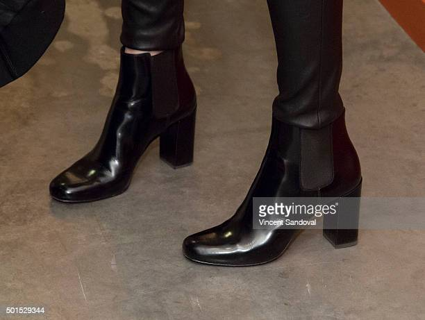 Actress Mary-Louise Parker, shoe detail, attends Live Talks L.A. Presents: An Evening With Mary-Louise Parker at Moss Theatre at New Roads School on...
