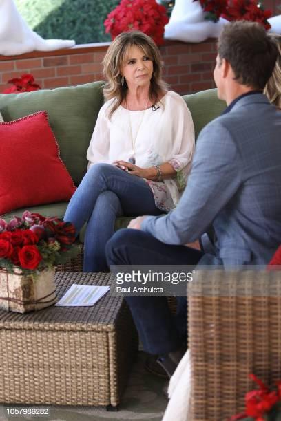 Actress MaryMargaret Humes visits Hallmark's Home Family at Universal Studios Hollywood on November 5 2018 in Universal City California