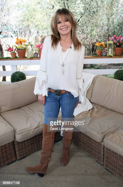 Actress MaryMargaret Humes visits Hallmark's Home Family at Universal Studios Hollywood on March 29 2018 in Universal City California