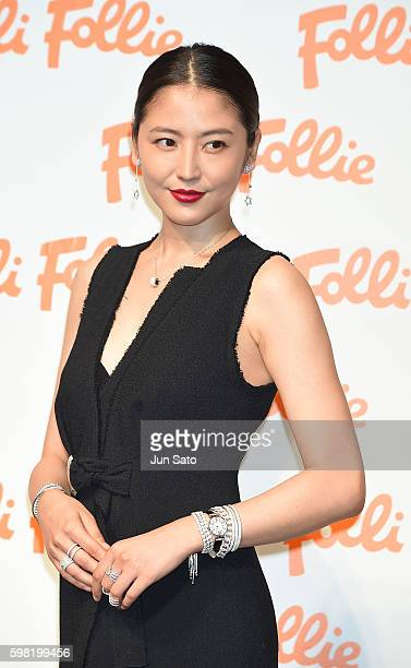 Actress Masami Nagasawa attends the Folli Follie 2016 AW Global Campaign 'I am Folli Follie' event at the Garden Room on September 1 2016 in Tokyo...