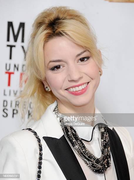 Actress Masiela Lusha arrives at the Los Angeles opening night of Mike Tyson Undisputed Truth at the Pantages Theatre on March 8 2013 in Hollywood...