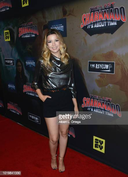 Actress Masiela Lusha arrives for the Premiere Of The Asylum And Syfy's 'The Last Sharknado It's About Time' held at Cinemark Playa Vista on August...