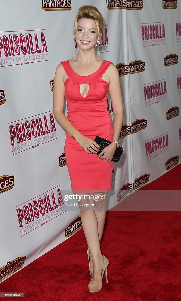Actress Masiela Lusha attends the Los Angeles theatre premiere of 'Priscilla Queen of the Desert' at the Pantages Theatre on May 29, 2013 in Hollywood, California.