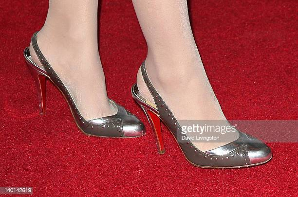 Actress Masiela Lusha attends the opening night of 'Monty Python's Spamalot' at the Pantages Theatre on February 28 2012 in Hollywood California