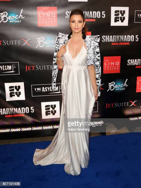 Actress Masiela Lusha attends the premiere of 'Sharknado 5 Global Swarming' at The Linq Hotel Casino on August 6 2017 in Las Vegas Nevada