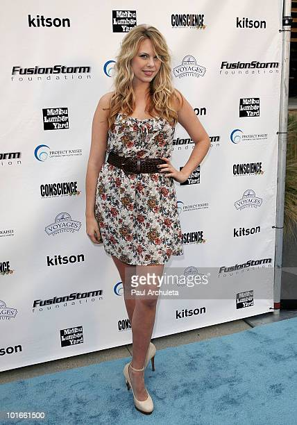 Actress Mason Rae arrives at the 1st annual My Ocean Planet fundraiser benefitting project Kaisei at The Malibu Lumber Yard on June 5 2010 in Malibu...