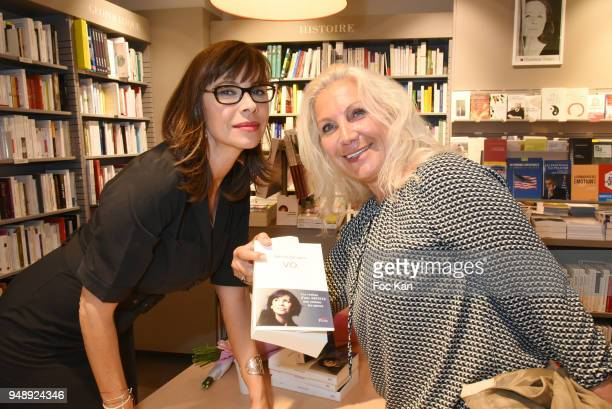 Actress Mathilda and MartineVidal from the Romy Schneider Patrick Dewaere Awards attend 'VO' Mathilda May Book Signing at Librairie Albin Michel Bd...