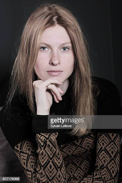 Actress Mathilde Goffart is photographed for Self Assignment on April 15 2016 in Liege Belgium