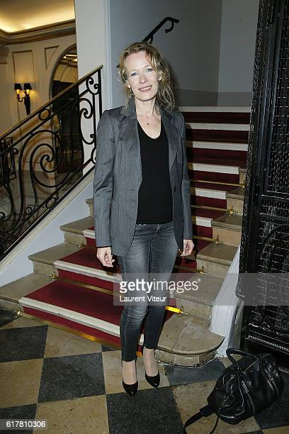 Actress Mathilde Penin attends L'Heureux Elu theater play premiere at Theatre de La Madeleine on October 24 2016 in Paris France