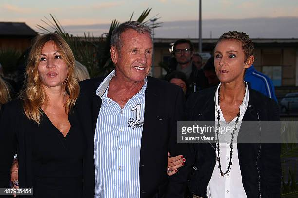 Actress Mathilde Segnier, Actor Yves Renier and his wife Karine attend the red carpet closing ceremony of the 17th Festival of TV Fiction At La...