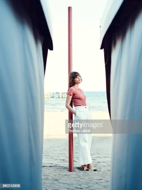 Actress Mathilde Warnier is photographed for Self Assignment on September 2017 in Venice Italy