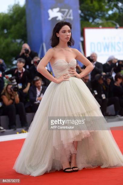 Actress Matilda de Angelis attends the premiere of the movie 'Una Famiglia' presented in competition at the 74th Venice Film Festival on September 4...