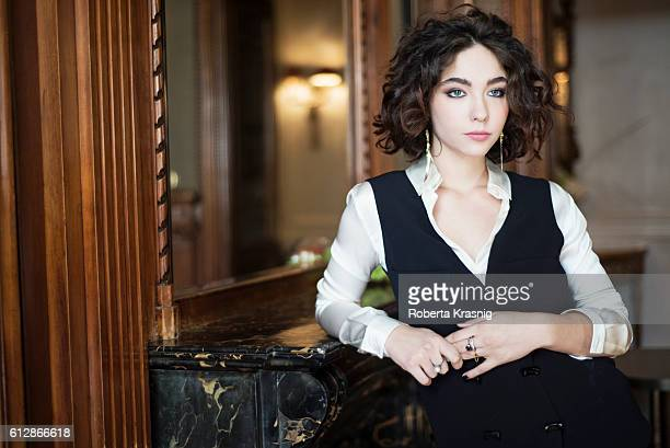 Actress Matilda De Angelis is photographed for Self Assignment on September 23 2016 in Rome Italy