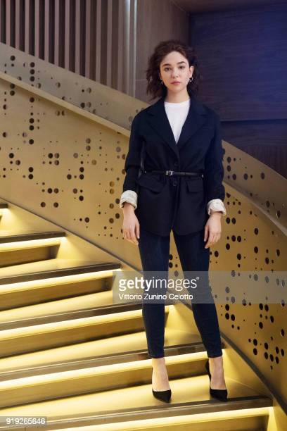 Actress Matilda De Angelis poses during a photo session at the 68th Berlinale International Film Festival Berlin at Soho House on February 16 2018 in...