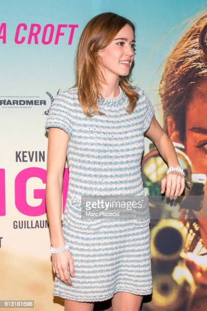 Actress Matilda Lutz attends the 'Revenge' Premiere at UGC Cine Cite des Halles on February 1 2018 in Paris France