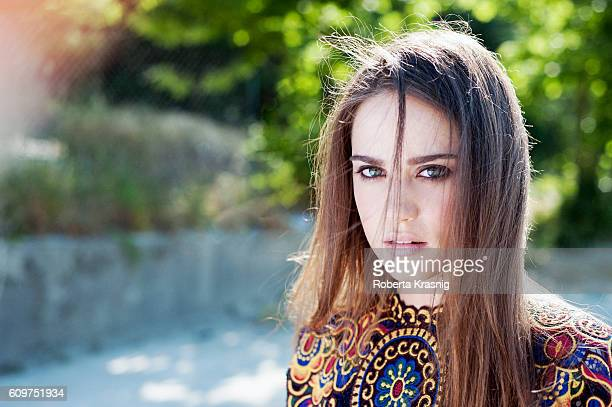 Actress Matilda Lutz is photographed for Self Assignment on May 20 2014 in Rome Italy