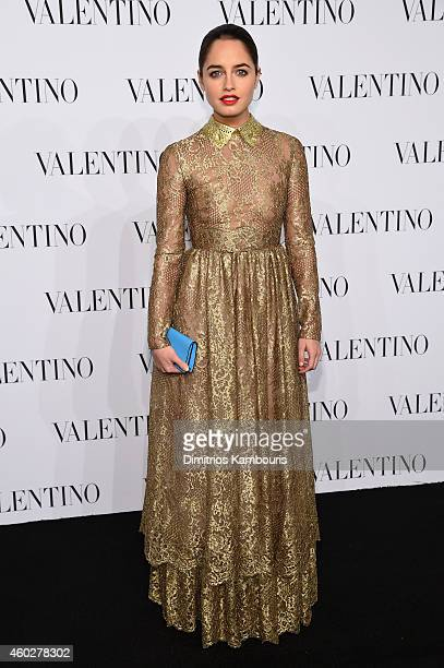 Actress Matilde Gioli attends the Valentino Sala Bianca 945 Event on December 10 2014 in New York City