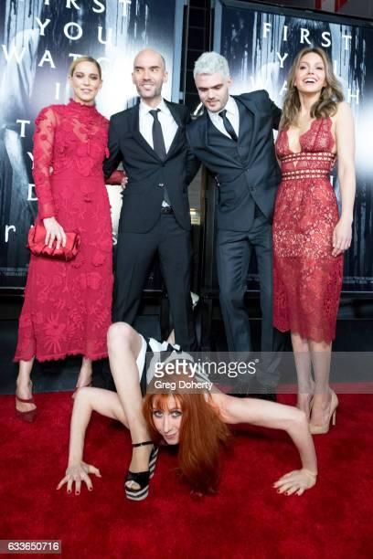Actress Matlida Lutz Director Javier Gutierrez Actor Alex Rose Actresses Aimee Teegarden and Bonnie Morgan attend the Screening Of Paramount...