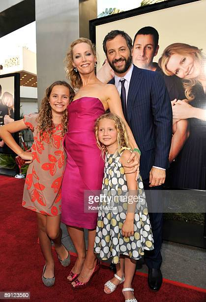 Actress Maude Apatow Actress Leslie Mann Actress Iris Apatow and Writer/Director/Producer Judd Apatow arrive on the red carpet of the Los Angeles...