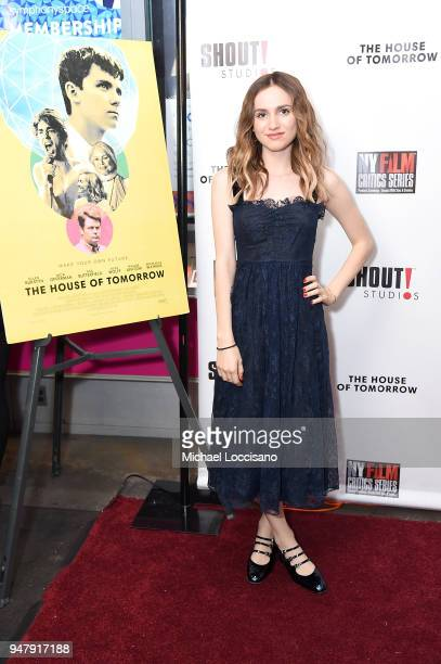 Actress Maude Apatow attends the New York special screening of 'The House Of Tomorrow' at Symphony Space on April 17 2018 in New York City