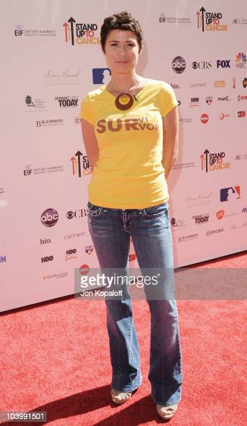 Actress Maura Tierney arrives at Stand Up To Cancer at Sony Pictures Studios on September 10 2010 in Culver City California