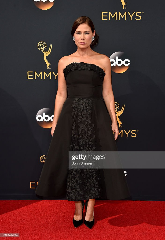 Actress Maura Tierney arrives at the 68th Annual Primetime Emmy Awards at Microsoft Theater on September 18, 2016 in Los Angeles, California.