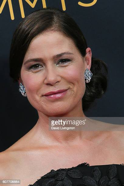 Actress Maura Tierney arrives at the 68th Annual Primetime Emmy Awards at the Microsoft Theater on September 18 2016 in Los Angeles California