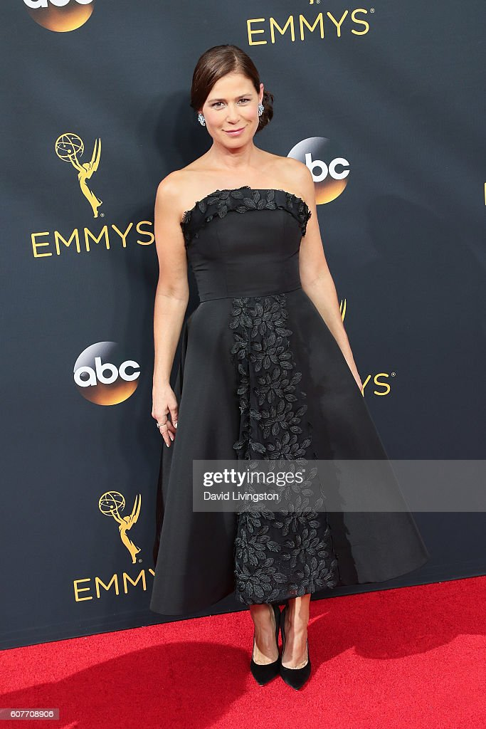 Actress Maura Tierney arrives at the 68th Annual Primetime Emmy Awards at the Microsoft Theater on September 18, 2016 in Los Angeles, California.