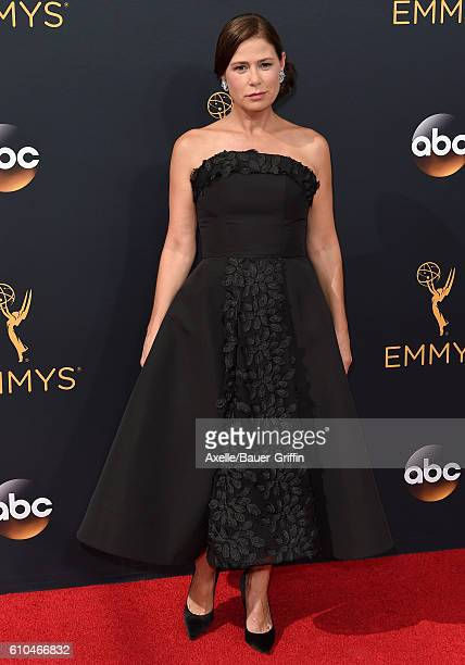 Actress Maura Tierney arrives at the 68th Annual Primetime Emmy Awards at Microsoft Theater on September 18 2016 in Los Angeles California