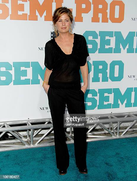 Actress Maura Tierney arrives at the Los Angeles Premiere 'SemiPro' at the Mann Village Theater on February 19 2008 in Westwood California