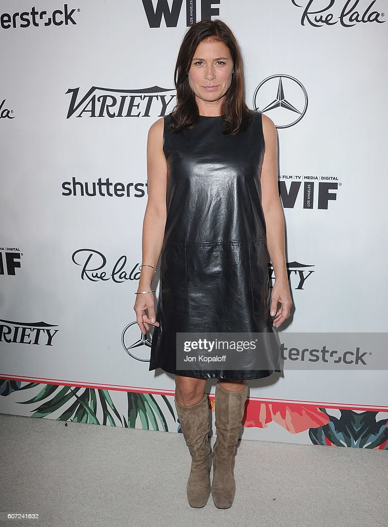 Actress Maura Tierney arrives at Variety And Women In Film's Pre-Emmy Celebration at Gracias Madre on September 16, 2016 in West Hollywood, California.