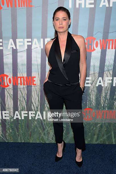 Actress Maura Tierney attends premiere of SHOWTIME drama The Affair held at North River Lobster Company on October 6 2014 in New York City