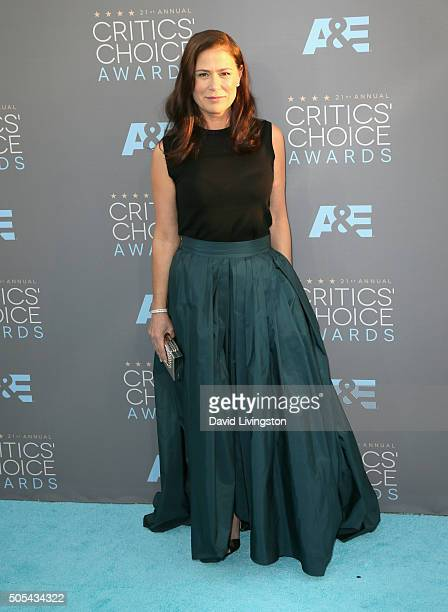 Actress Maura Tierney attends The 21st Annual Critics' Choice Awards at Barker Hangar on January 17 2016 in Santa Monica California