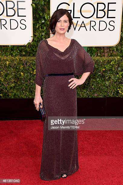 Actress Maura Tierney attends the 72nd Annual Golden Globe Awards at The Beverly Hilton Hotel on January 11 2015 in Beverly Hills California