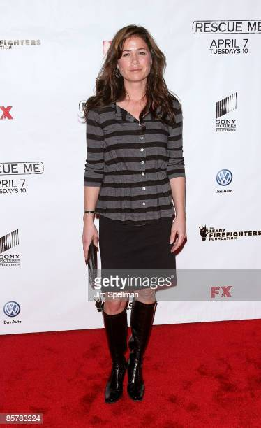 Actress Maura Tierney attends the 'Rescue Me' Season 5 premiere at Radio City Music Hall on April 2 2009 in New York City