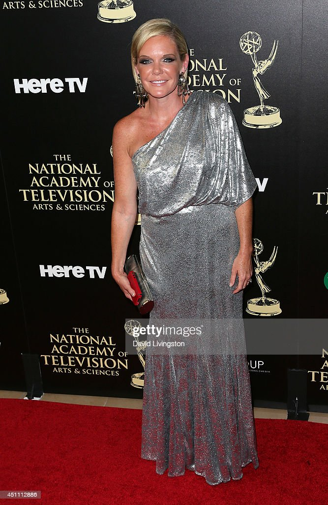 Actress Maura West attends the 41st Annual Daytime Emmy Awards at The Beverly Hilton Hotel on June 22, 2014 in Beverly Hills, California.