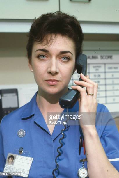 Actress Maureen Beattie in a scene from episode 'Allegiance' of the BBC television series 'Casualty' September 20th 1991