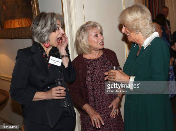 Actress Maureen Lipman Elaine Paige and Camilla Duchess of Cornwall attend a reception to celebrate the launch of the 'Our Amazing People' campaign...