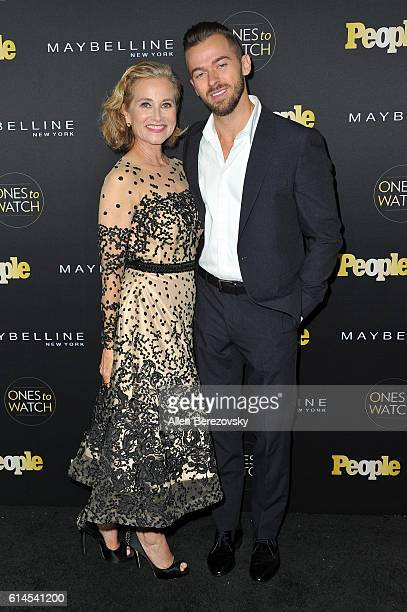 Actress Maureen McCormick and dancer Artem Chigvintsev attend People's Ones To Watch party at EP LP on October 13 2016 in West Hollywood California