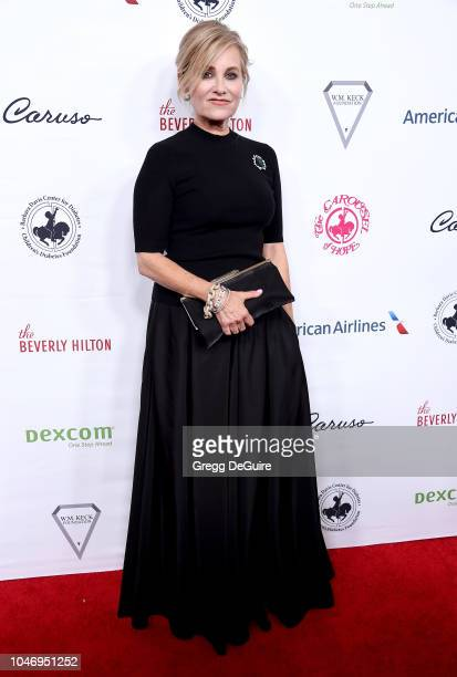 Actress Maureen McCormick arrives at the 2018 Carousel Of Hope Ball at The Beverly Hilton Hotel on October 6 2018 in Beverly Hills California