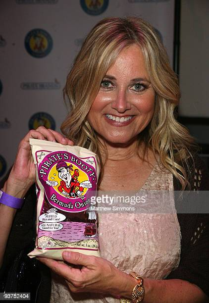 Actress Maureen McCormick attends the Pirate's Booty booth at the Kari Feinsten Primetime Emmy Awards style lounge at Zune LA on September 17 2009 in...