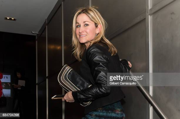 Actress Maureen McCormick is seen arriving to Pamella Roland fashion show during New York Fashion Week at Pier 59 Studioson February 10 2017 in...