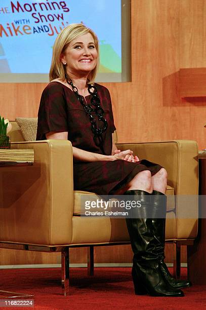 Actress Maureen McCormick Visits FOX's The Morning Show with Mike and Juliet at the FOX studios on October 14 2008 in New York City