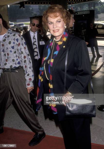 Actress Maureen O'Hara attends the 'Home Alone 2 Lost in New York' Century City Premiere on November 5 1992 at ABC Entertainment Center in Century...