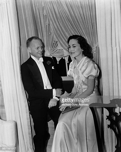 Actress Maureen O'Sullivan and husband director John Farrow attend an event in Los Angeles California