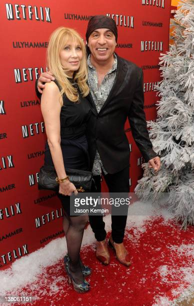 Actress Maureen Van Zandt and actor Steven Van Zandt attend the North American Premiere Of Lilyhammer a Netflix Original Series at Crosby Street...