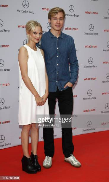 Actress Mavie Hoerbiger and actor David Kross attend the 'What A Man' Premiere at CineStar on August 10 2011 in Berlin Germany