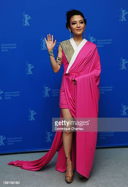 Actress Mavis Fan attends the 'Flying Swords Of Dragon Gate' Photocall during day nine of the 62nd Berlin International Film Festival at the Grand...