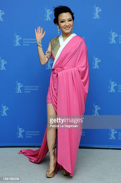 Actress Mavis Fan attends the Flying Swords Of Dragon Gate Photocall during day nine of the 62nd Berlin International Film Festival at the Grand...